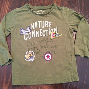 Mayoral Nature Connection Green Patch Tee Size 3